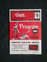 DENVER BEARS 1952 Baseball official Program Cleveland Indians v New York Giants