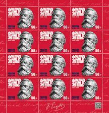 Russia, 2020, Fr. Engels, sheet of 12 stamps