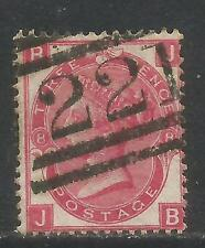 Great Britain 1867-80 Queen Victoria 3p rose plate 8 (49) used