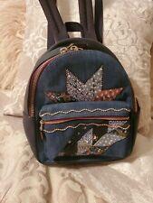 Coach Denim Star Patchwork Mini Charlie Backpack F39917 Svm64 Blue Denim