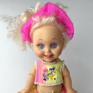 Vintage 1990 Galoob Baby Face Doll So Delightful DeeDee, Tongue Out # 8