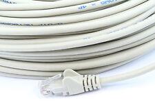 15m Beige Cable De Red Lan Rj45 parche Plomo Cat 5 Ethernet Pc Computadora Para Router