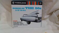 Timeless Songs Of The 50s 20 Top Ten Hits! 2 CD Set 2008 Direct Source cd3728
