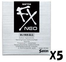 [5 Packs] SANTEN Sante FX Neo Eye Drops Cool 12ml Eyedrops Japan F/S