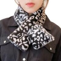 Women Wrap Rex Rabbit Fur Scarf Snood Collar Bib Neck Warmer Comfortable Warm
