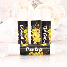 30 Sunflower Lip Balm Stickers, Personalized Lip Balm Labels