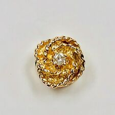 14k Yellow Gold DIAMOND CHARM, SLIDE with One 2.7 mm Round Diamond Stuller