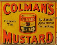 colmans Mustard Advert VINTAGE ENAMEL METAL TIN SIGN WALL PLAQUE