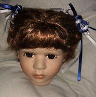 Orchidee-Puppenkopf  Heidi kompl. für Puppengröße 50 - 55 cm