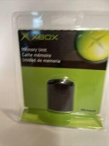 NEW CLAMSHELL SEALED OEM MICROSOFT XBOX ORIGINAL OEM MEMORY UNIT CARD RARE!!
