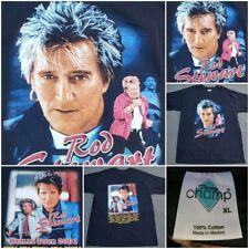 Rod Stewart Concert Tour 2001 Xl Black T Shirt Vintage Deadstock