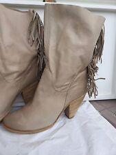 VIC  Woman boots, light color, size  41  Tronchetti in pelle Donna colore beige