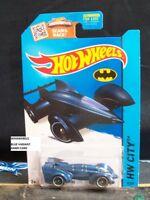 HOT WHEELS 2015 #65 -2 BATMAN LIVE BATMOBILE BLUE CITY CA AMER