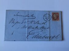 (C82) 1859 1d RED STAR COVER WITH 62 IRISH DIAMOND CANCEL