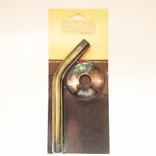 """1/2"""" male pipe thread X 6""""length polished  ANTIQUE BRASS SHOWER ARM & FLANGE"""