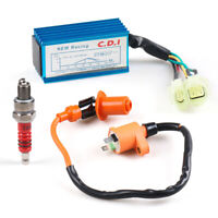Ignition Coil High Voltage Package+Spark Plug+AC CDI Box for Gy6 50-150cc Moped