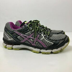 ASICS GT-2000 2 Women's Size US 8 Athletic Running Shoes Gray/Purple T3P8N