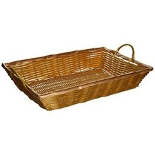 Winco Pwbn-16B 16-Inch by 11-Inch by 3-Inch Rectangular Woven Basket with Handl