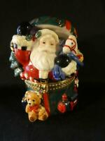 Large Christmas Traditions Porcelain Decorative Keepsake Trinket Box - Santa 5""