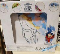 Disney Parks Ink & Paint Character 4 Plate Set! Cinderella Peter Pan Penguins
