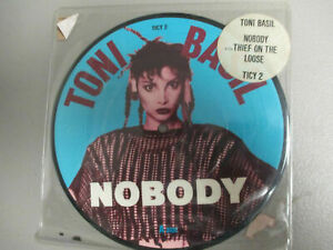 TONI BASIL Nobody PICTURE DISC Virgin TICY 2 MINT- w/sticker on sleeve 1981