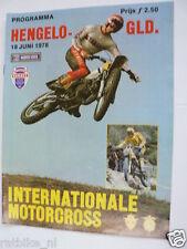 1978 INT.MOTORCROSS HENGELO GLD 18 JUNI PROGRAMME,LACKEY,NOYCE,BANKS PJ40