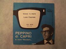 """PEPPINO DI CAPRI""""VICINO 'O MARE- G.CREPAX  AZZURRA- DISCO 45 GIRI CARISCH 1960"""""""