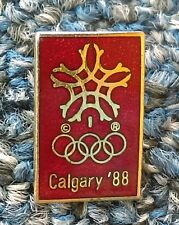 Calgary 88. Winter Olympic Games, Canada, official logo Made in Canada pin badge
