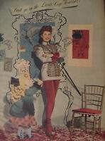 1944 Original Esquire Art WWII Era Photograph Peggy Corday