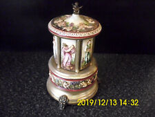 Reuge Carousel Music Box Cigarette Holder Made Italy Love Story Edelweiss