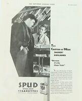 .RARE 1931 SPUD CIGARETTES LARGE ADVERT. EX SATURDAY EVENING POST.