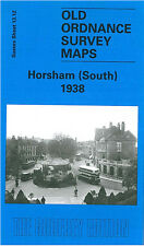 OLD ORDNANCE SURVEY MAP HORSHAM SOUTH BISHOPRIC CARFAX OAKHILL BRIGHTON RD 1938