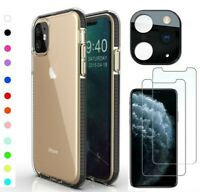 For iPhone 11 Pro Max SE XR XS Plus Clear Case Dual Color Shockproof Slim Cover