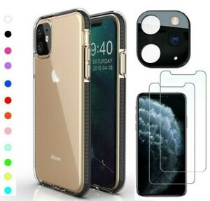 For iPhone 11 Pro Max SE XS Plus Shockproof Clear Case Dual Color Slim Cover