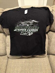 NWOT Jason Feger #25 Dirt Late Model Youth T-shirt Size L