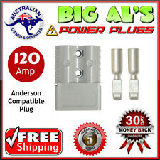 4 X 120Amp 120A Grey Anderson Style Compatible Power Plug Battery DC Connector