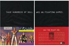 Original TEKKEN Sony PlayStation PS1 fighting video game two-page print ad