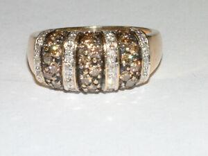 Harry Ivens Ring 585 Gelbgold mit Brillanten 0,80 ct, Gr. 60
