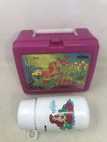 "VINTAGE DISNEY'S  ""THE LITTLE MERMAID"" LUNCH BOX w/ THERMOS  - PLASTIC - PINK"