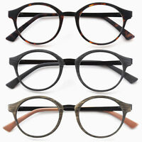 GAWK Metal Temple Arm Round READING GLASSES Wood/Tortoiseshell +1.0+1.5+2+2.50+3