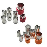 8Pcs Stainless Steel Flower Shape Rice Vegetable Fruit Cutter Mold Slicer