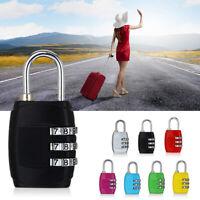 3 Digit Combination Padlock Luggage Code Lock Travel Accessories d
