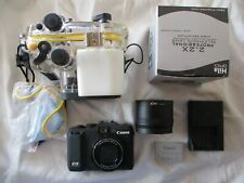 Canon PowerShot G15 12.1 MP Camera Bundle Meicon Underwater Housing + more