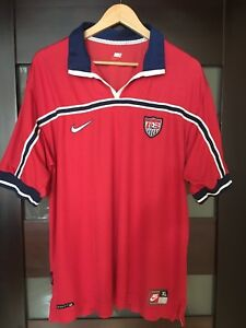 USA NATIONAL TEAM 1998/1999 AWAY SHIRT JERSEY ADIDAS RARE VINTAGE