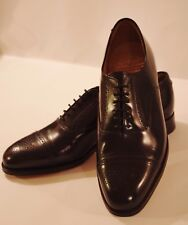 Grenson Black Leather Brogue Oxfords UK 8 EU 42