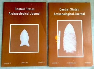 Pair of Booklets, Central States Archaeological Journal, April & October 1994