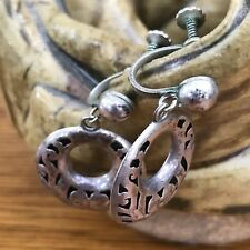 ANTIQUE STERLING SILVER TAXCO MEXICO ANTONIO PINEDA ? EARRINGS