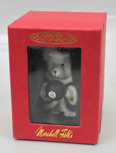 Vtg Santa Bear Ornament 15 Year Anniversary 1999 Mint Box 8 Ball Marshall Fields
