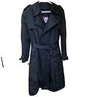 Mackintosh Weatherfair Mens 42 Regular Overcoat Trench Coat Wool Blend Lining