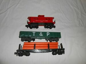 Lot of 3 American Flyer Freight Cars - Late Production